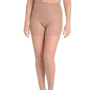 Spanx Nude Side-Seam Fishnet NWT